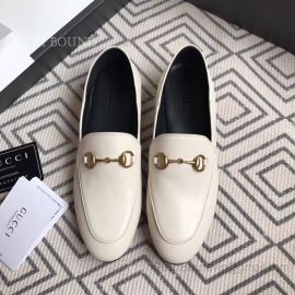 Gucci Leather Horsebit Loafer White