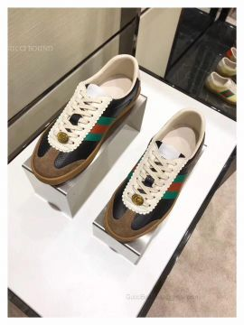 Gucci Leather And Suede Web Sneaker Black