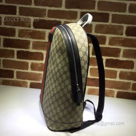 Gucci GG Supreme Backpack With Web Black 443805