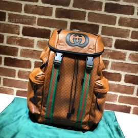 Gucci Dapper Dan Backpack Brown 536413
