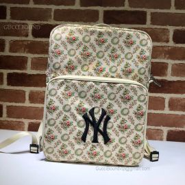 Gucci Medium Backpack With NY Yankees Patch White 536724