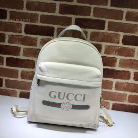 Gucci Print Leather Backpack White 547834