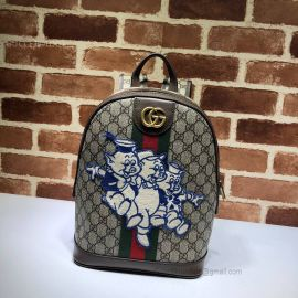 Gucci Ophidia GG Backpack With Three Little Pigs Brown 552884