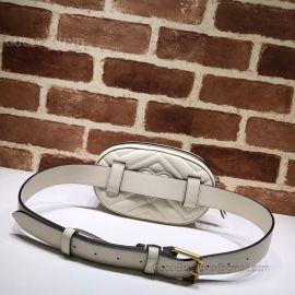 Gucci GG Marmont Belt Bag White 476434