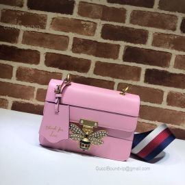 Gucci Queen Margaret Leather Bag Pink 476542