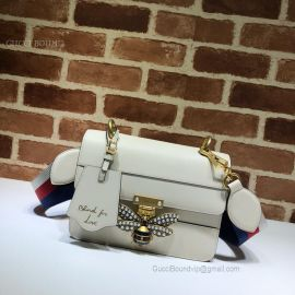Gucci Queen Margaret Leather Bag White 476542