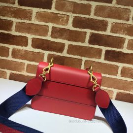 Gucci Queen Margaret Leather Bag Red 476542
