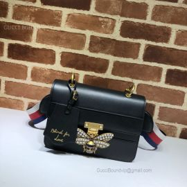 Gucci Queen Margaret Leather Bag Black 476542