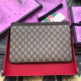 Gucci Ophidia GG Supreme Pouch Brown 517551