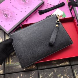 Gucci Animalier Leather Pouch Black 523684