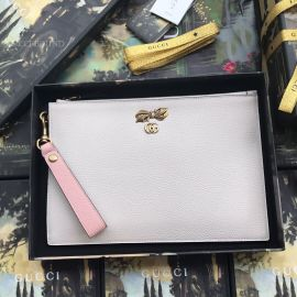 Gucci Leather Pouch Clutch White 524299