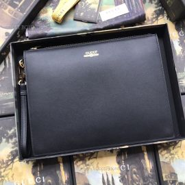 Gucci Leather Pouch With Gucci Logo Black 547613