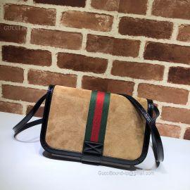 Gucci Ophidia Suede Messenger Bag Chestnut 548304