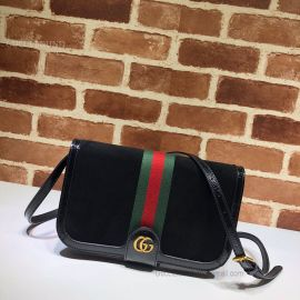 Gucci Ophidia Suede Messenger Bag Black 548304
