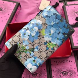 Gucci Dionysus GG Blooms Supreme Chain Wallet Blue 401231