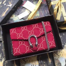 Gucci Dionysus GG Velvet Mini Chain Wallet Red 401231