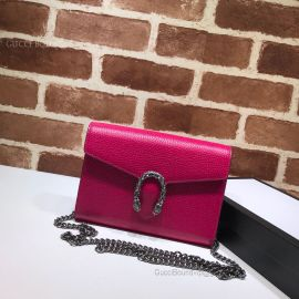 Gucci Dionysus Mini Leather Chain Bag Red 401231