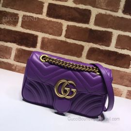 Gucci GG Marmont Matelasse Mini Bag Purple 446744