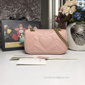 Gucci GG Marmont Matelasse Mini Bag Pink 446744