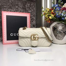 Gucci GG Marmont Matelasse Mini Bag White 446744