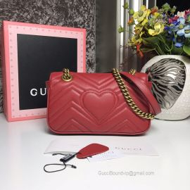 Gucci GG Marmont Matelasse Mini Bag Red 446744
