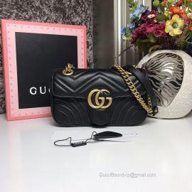 Gucci GG Marmont Matelasse Mini Bag Black 446744