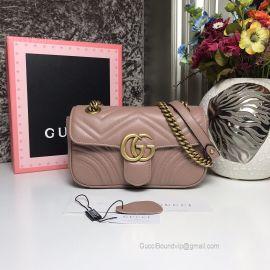 Gucci GG Marmont Matelasse Mini Nude Bag 446744
