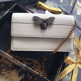Gucci Queen Margaret Leather Mini Bag White 476079