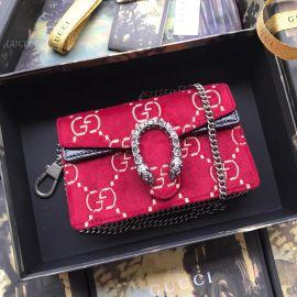 Gucci Dionysus GG Velvet Super Mini Bag Red 476432