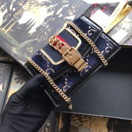 Gucci Sylvie Velvet GG Super Mini Bag Blue 494646