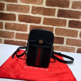 Gucci Ophidia Suede Mini Bag Black 546595