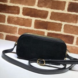 Gucci Ophidia Suede Mini Bag Black 546597