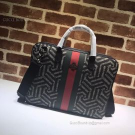 Gucci GG Supreme Briefcase Black 473888