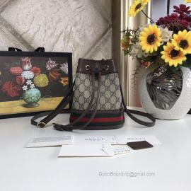 Gucci Ophidia GG Mini Bucket Bag Brown 550620
