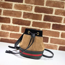 Gucci Ophidia Suede Mini Bucket Bag Chestnut 550620