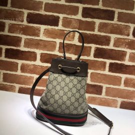 Gucci Ophidia GG Small Bucket Bag Brown 550621
