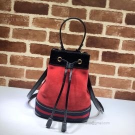 Gucci Ophidia Suede Small Bucket Bag Red 550621