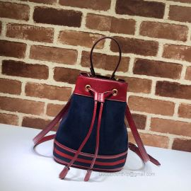 Gucci Ophidia Suede Small Bucket Bag Blue 550621