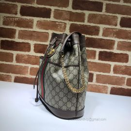 Gucci Rajah GG Medium Bucket Brown Bag 553961