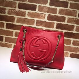 Gucci Soho Leather Shoulder Red Bag 308982