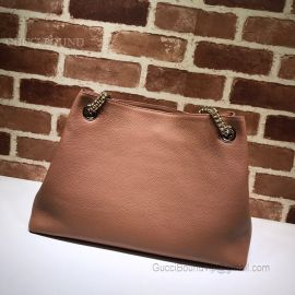 Gucci Soho Leather Shoulder Bag Brown 308982