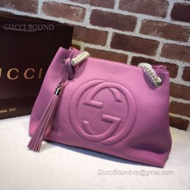Gucci Soho Leather Shoulder Pink Bag 308982