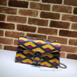 Gucci Dionysus Small Shoulder Bag Bicolor Yellow 400249