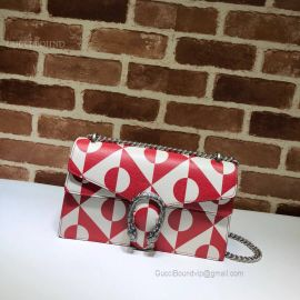Gucci Dionysus Small Shoulder Bag Red And White 400249