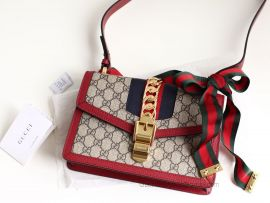 Gucci Sylvie GG Small Shoulder Bag Red 421882