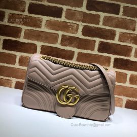 Gucci GG Marmont Medium Matelasse Shoulder Bag Nude 443496