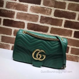 Gucci GG Marmont Medium Matelasse Shoulder Bag Green 443496