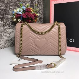 Gucci GG Marmont Medium Matelasse Shoulder Bag Pink 443496