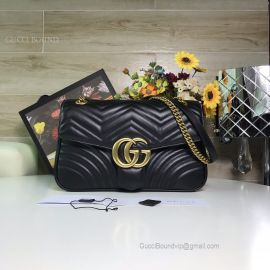 Gucci GG Marmont Medium Matelasse Shoulder Bag Black 443496