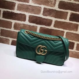 Gucci GG Marmont Small Matelasse Shoulder Green Bag 443497